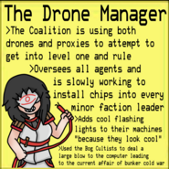 The Drone Manager with text