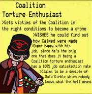 Coalition Torture Enthusiast with text