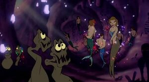 The Merpeople in Ursula's Grotto