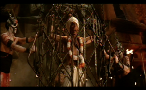 Indiana Jones human sacrifice scene