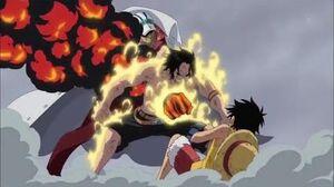 ACE DEATH!!! Akainu vs Ace Ace Protect Luffy from Akainu's Magma Arc Marineford Part 6