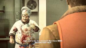 Antoine rozczarowany tym, że Chuck nie jest krytykiem kulinarnym