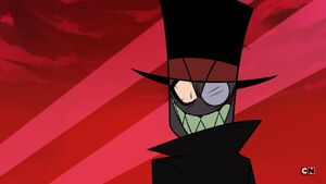 Black Hat mad stare