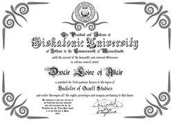 The Miskatonic University Diploma