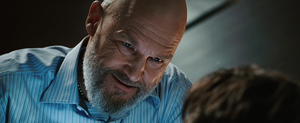 Obadiah Stane revealing the monster within