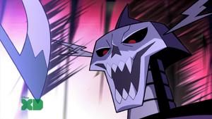 Skeleton King Luaghing Evilly