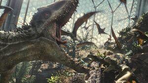 I-Rex attacks Aviary