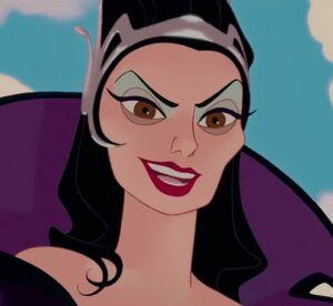 Queen Narissa's evil grin
