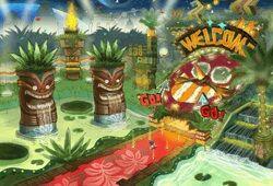 The Tropical Resort's Totem Poles