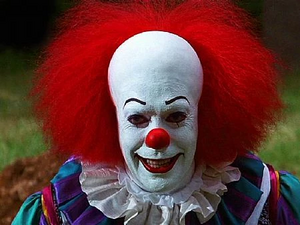 Pennywise evil grin (TV series version)