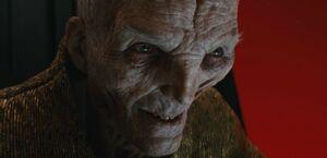 Supreme Leader Snoke's evil grin