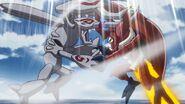 MegaKabuterimon and Okuwamon in the battle