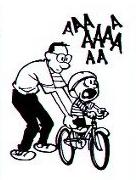 Calvin's bike lesson