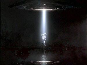 Mulder's abduction begins