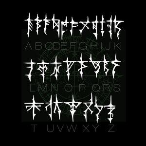 The Gozerian Alphabet Letters