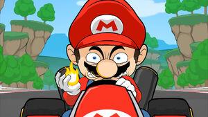 Mario's evil stare