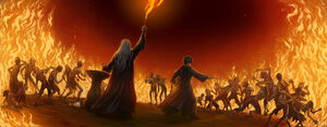 Harry, Dumbledore and the Inferi
