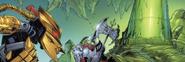 Comic Brutaka and Axonn with Antidermis Vat