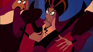 Jafar vowing that he will get revenge