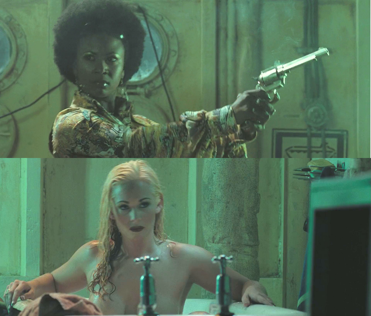 Afro Girl and Bathtub Blonde (Doomsday)