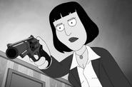 Angela Gun B&W