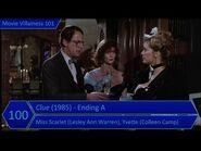 Movie Villainess 101 Rank -100 - Clue (1985) - Ending A - Miss Scarlet, Yvette