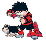 Dennis the Menace and Gnasher the dog