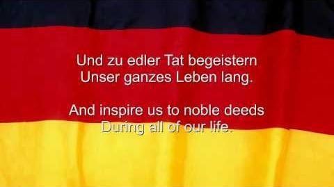 """Das Deutschlandlied"" - Germany National Anthem German & English lyrics"