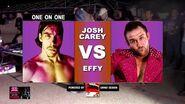 EFFY Vs Josh Carey - Elite Wrestling Money In The Stank