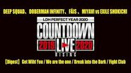 "DEEP SQUAD, DOBERMAN INFINITY, FÄIS, MIYAVI vs EXILE SHOKICHI - 【Digest】(COUNTDOWN LIVE 2019▶2020 ""RISING"")"