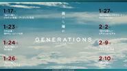 GENERATIONS - Ame Nochi Hare schedule