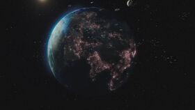 The UNN Home Fleet around Earth.