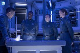 From Left to Right: A UNN Fleet Admiral, Admiral, Lieutenant, and Lieutenant Commander.