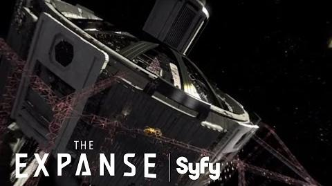 THE EXPANSE (360 Video) Virtual Reality Tour of Tycho Station & The Nauvoo Syfy