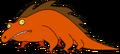 Alien Orange Creature Lizard