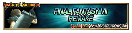 Featured Summon for Final Fantasy VII REMAKE