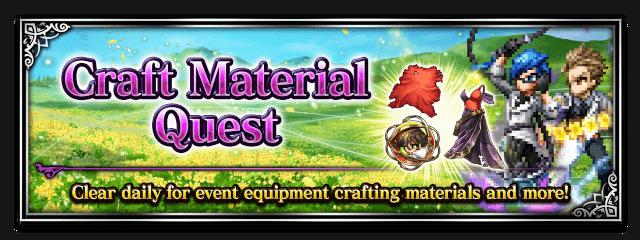 Craft Material Quest