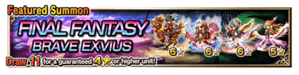 Featured Summon for Final Fantasy Brave Exvius