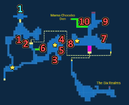 Map of Pearl Cavern