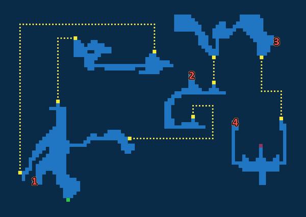 Map for Esper Caves - Exploration