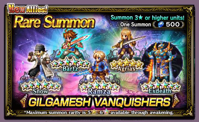Featured Summon for Gilgamesh Vanquishers
