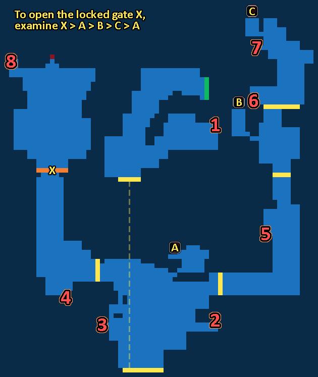 Treasure map of Fodina Caestino - Exploration