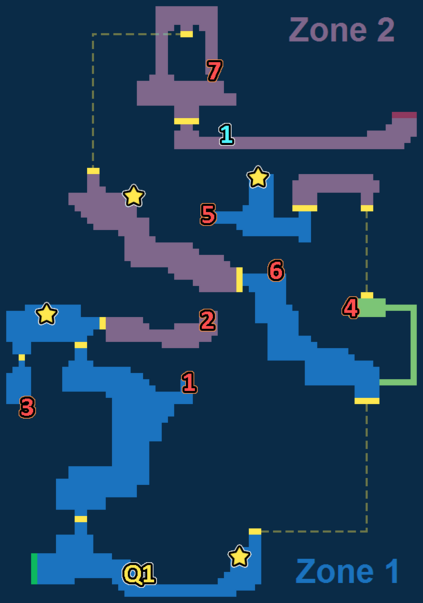 Encounter Map of Surging Volcano
