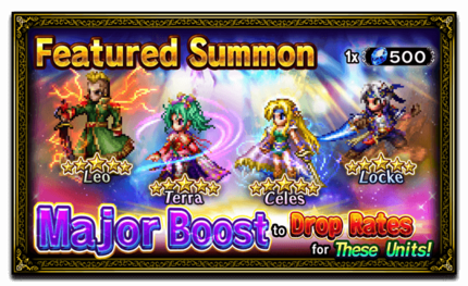 Featured Summon: Leo, Terra, Celes, and Locke
