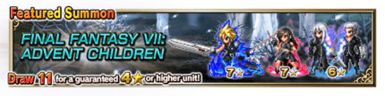 Featured Summon for Final Fantasy VII: Advent Children