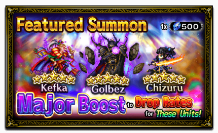 Unit Release: Kefka, Golbez, and Chizuru