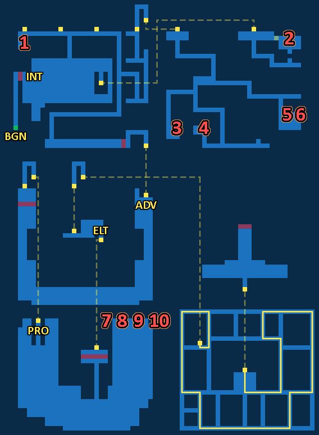 Treasure map of The Dreadnought