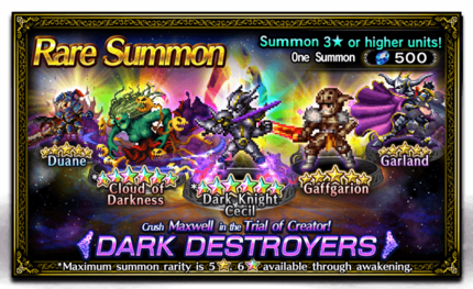 Featured Summon for Dark Destroyers
