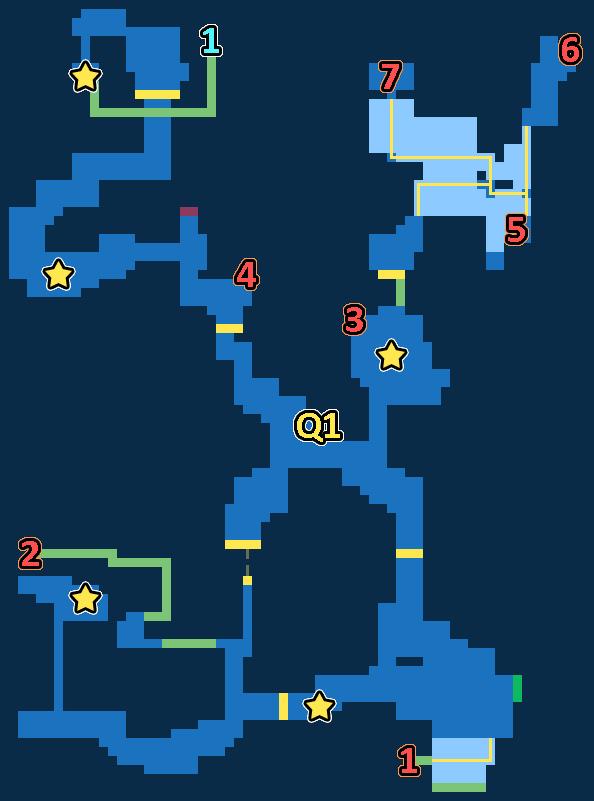 Treasure Map of Snowy Woods