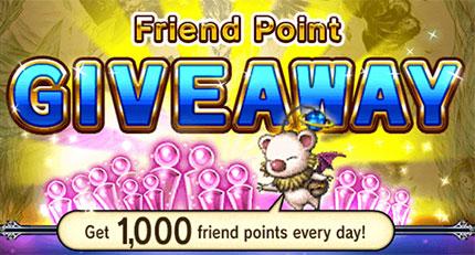 Friend point giveaway!